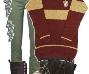 harry potter, outfit, and Polyvore image