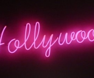 hollywood, pink, and neon image