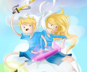 finn, adventure time, and fionna image