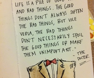 doctor who, quote, and life image