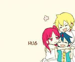 magi, anime, and hug image