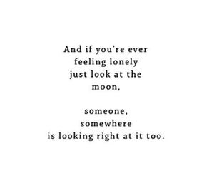 moon, quotes, and lonely image