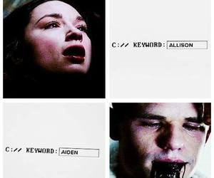 aiden, teen wolf, and allison image