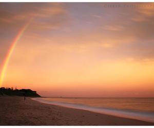 beach and rainbow image
