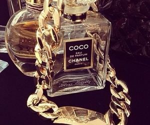 beauty, coco chanel, and gold image