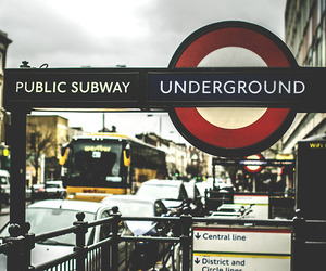 london, underground, and subway image