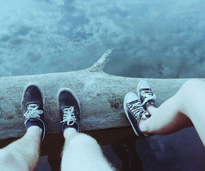 shoes, converse, and couple image