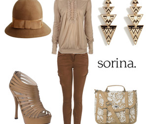 bag, beige, and blouse image