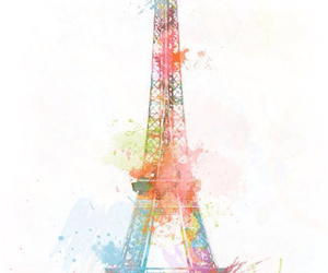 colourful, eiffel tower, and landmark image