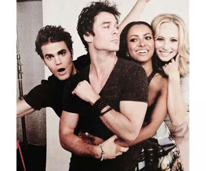 the vampire diaries, paul wesley, and ian somerhalder image