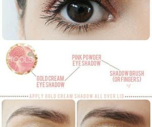 makeup, gold, and diy image