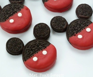 oreo, mickey mouse, and food image