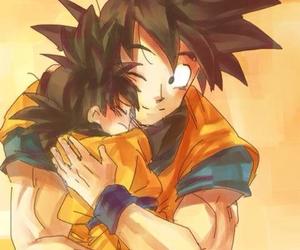 goku, hug, and dragon ball z image
