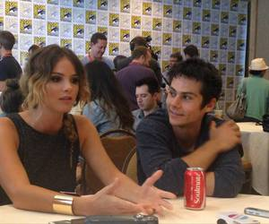 boy and girl, comic con, and dylan obrien image