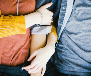 couple, grunge, and hug image