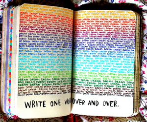 Dream, book, and rainbow image