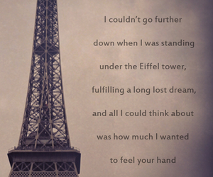 alone, broken heart, and eiffel tower image