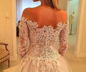 dress, luxe, and white image