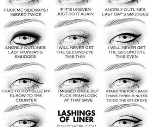 eyes, liner, and eyeliner image