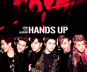 2PM, chansung, and hands up image