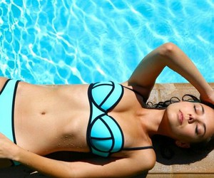blue, pool, and triangl image