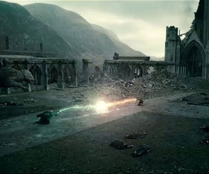 battle, harry potter, and the end image