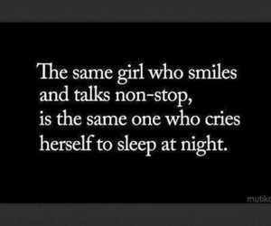 alone, girl, and sad quotes image