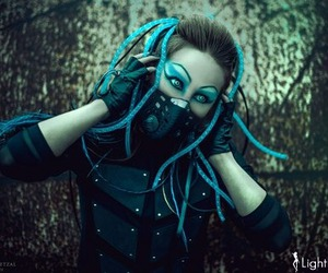 cyber, goth, and gothic image