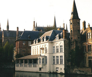 architecture, Brugge, and canal image