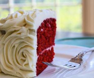 cake, red, and wedding image