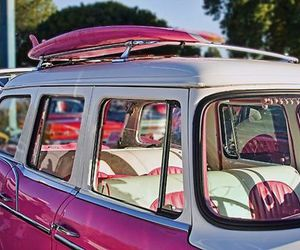 pink, car, and surf image
