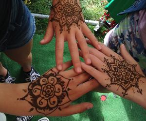 flowers, henna, and nice image