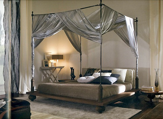Beautiful And Elegant Taste In Canopy Beds With Curtains The Enchanting Silver Colour Twin Bed Curtain Decor For Your