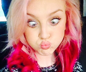 pink hair, perrie edwards, and little mix image