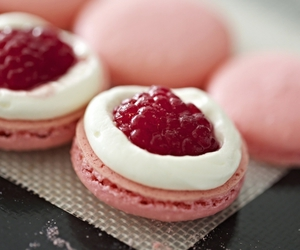 delicious, macarons, and pink image