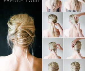 bun, french twist, and diy image