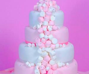 cake, marshmallow, and food image