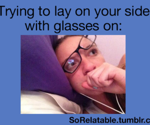 bed, funny, and glasses image