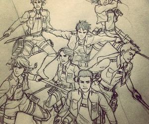 art, percy jackson, and snk image