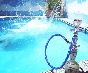 hookah, pool, and summer image