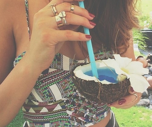 girl, summer, and drink image