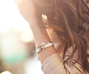 girl, hair, and bracelet image