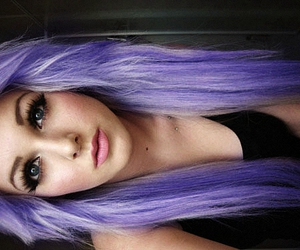 purple hair, pastel hair, and lavender hair image