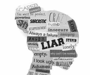 Liars, sad, and fake image