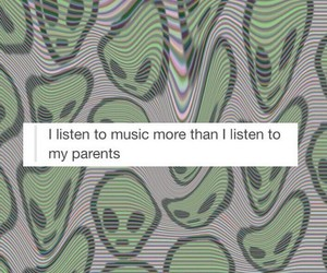 music, parents, and alien image