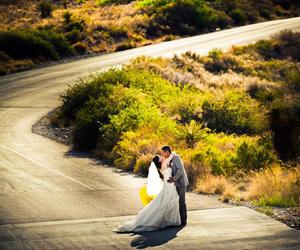 bride, desert, and wedding image