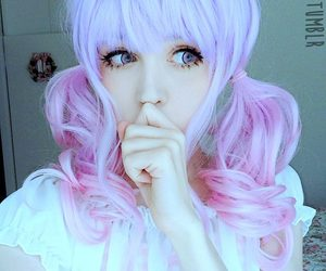 dyed hair, cute, and anzujaamu image