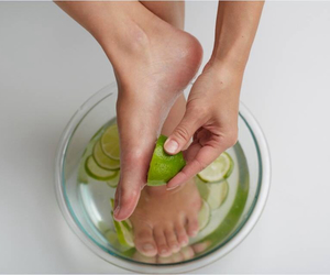 diy, lime, and pedicure image