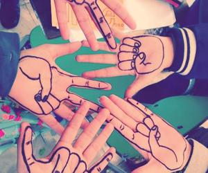 hands, friends, and friendship image