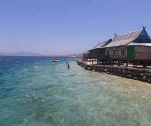 beach, holly, and indonesia image